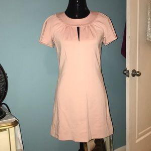 Trina Turk light pink keyhole mini dress